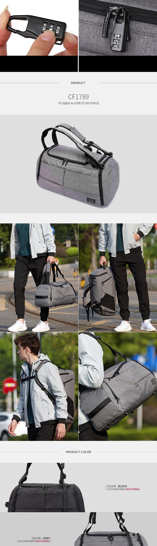 Travel Luggage Custom Homme Boston bag CF1789 CFN5
