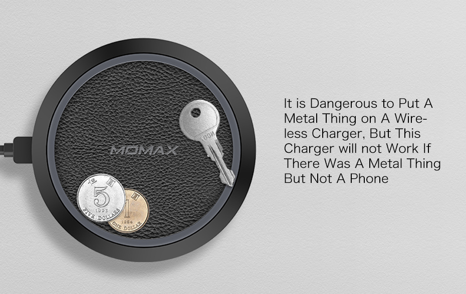 MOMAX Thin Quick Charge QC3.0 Qi Wireless Charger Pad for iPhone X88 Plus, for Samsung Note 8 Etc. Qi-enabled Smartphones (12)